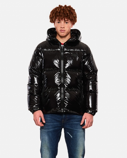 Short quilted horizontal down jacket