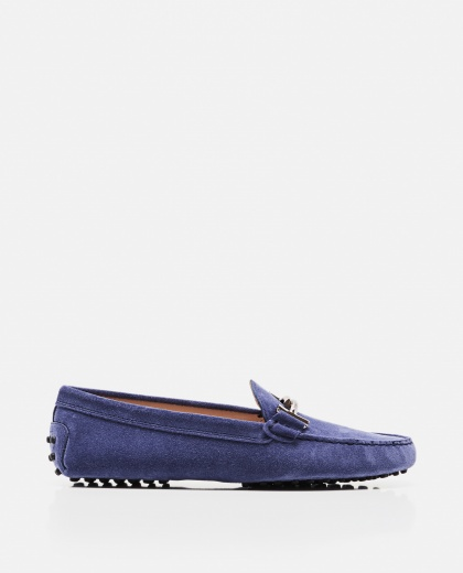 Double T suede moccasin