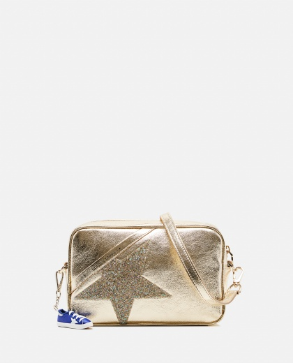 Star Bag in laminated leather with crystals
