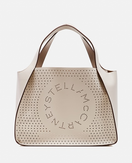 Tote bag with perforated logo