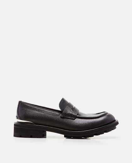 Smooth leather moccasins