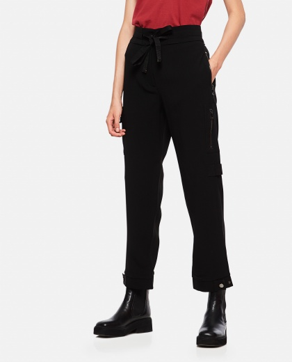 Straight cargo trousers