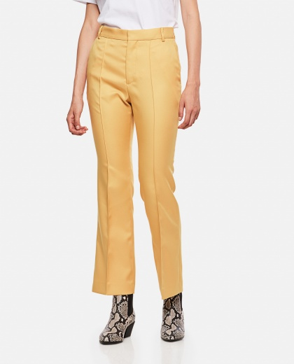 Mustard-colored cotton trousers
