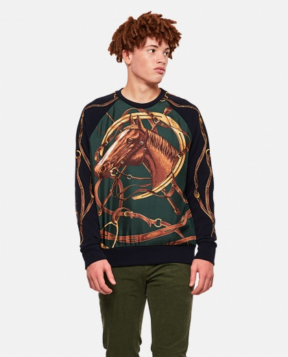 Sweatshirt with horse graphics