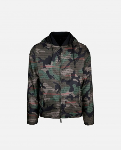 Camouflage double-sided jacket