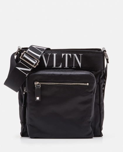 Valentino Garavani black VLTN messenger bag