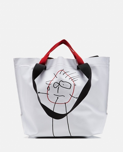 """Pili"" print shopping bag"