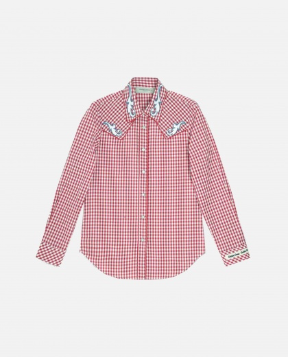 Betty shirt with white and red checks