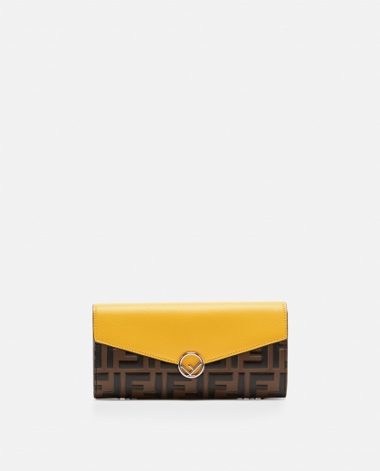 F is Fendi continental leather wallet