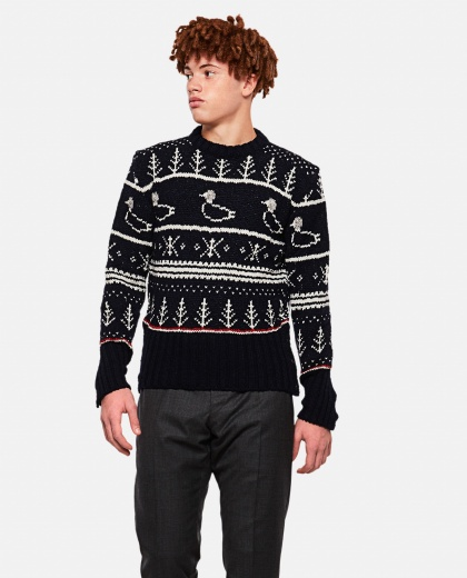 Jacquard-effect sweater