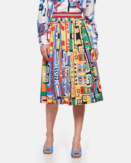 Skirt with multicolor pattern