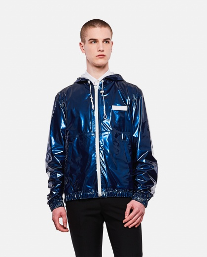 Painted nylon windbreaker