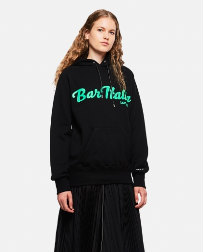 "Sweatshirt with ""Bar Italia"" print"