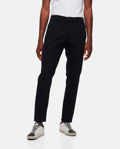 Slim fit stretch cotton trousers