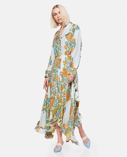 Long dress with Flower Swirl print