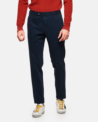 Long wool blend trousers