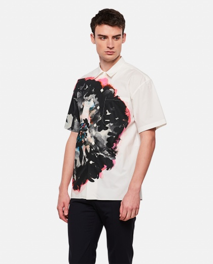 Floral shirt with short sleeves