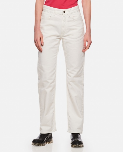 Straight cotton jeans