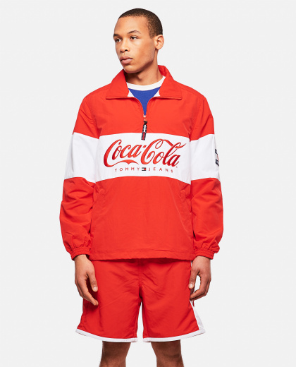 Tommy X Coca Cola Jacket With Zip And Logo