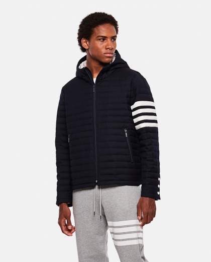4-bar down jacket with striped detail