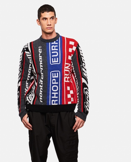 MSGM inlay crewneck sweater