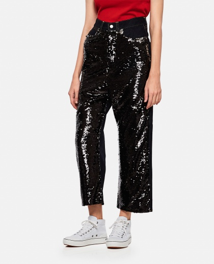 Sequined jeans