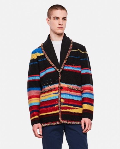 Sarape Striped Cashmere Cardigan