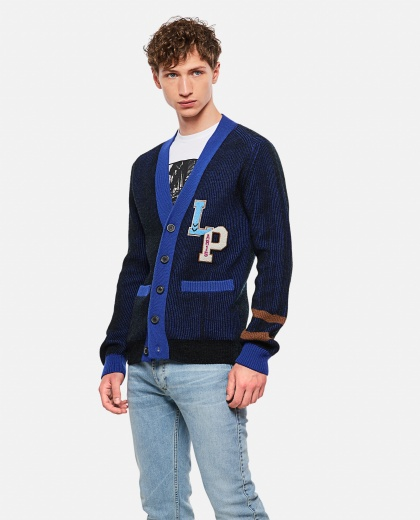 Cardigan With Patch Logo