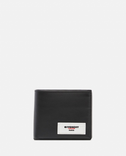 Foldable wallet with applied logo