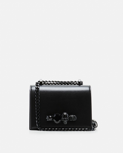 Skull knuckle duster cross body bag