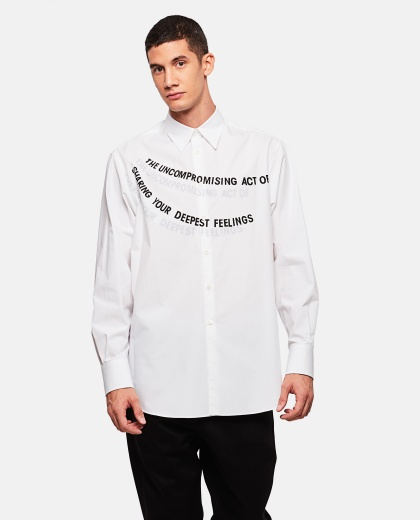 Shirt with writing