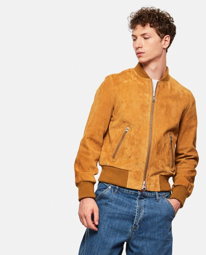 Suede Leather Bomber