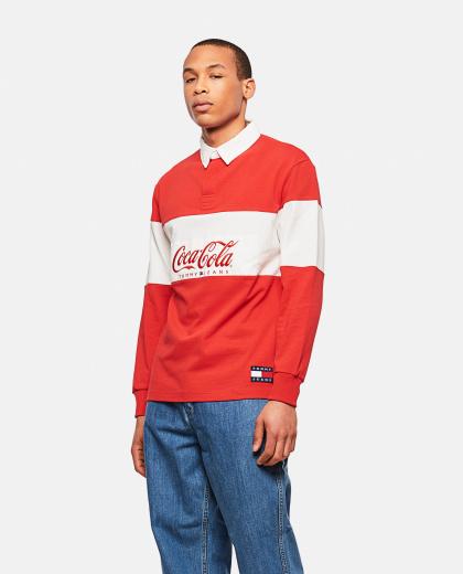 Rugby Shirt With Tommy X Coca Cola Logo