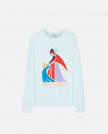 "Sweatshirt  with ""Mum and the girl"" print"