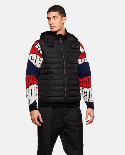 Padded gilet with print