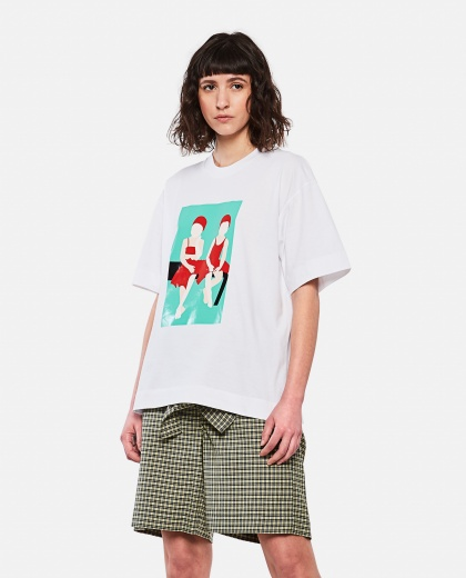 Square T-shirt with graphic print