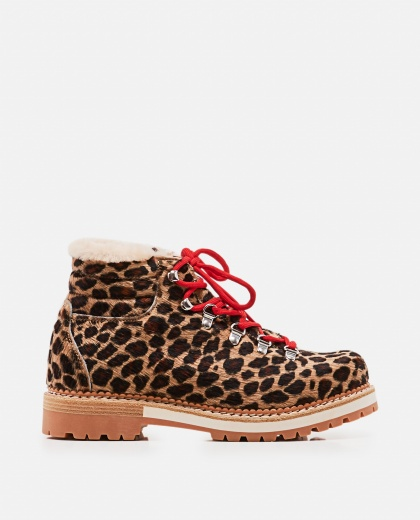 Marlena boots with leopard print