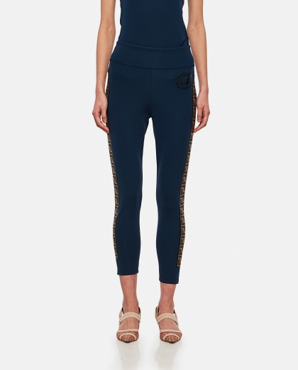 Stretch fabric leggings