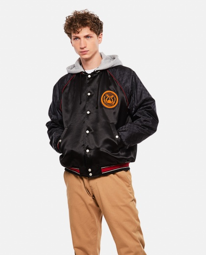 Acetate Bomber Jacket With Lyre Patch