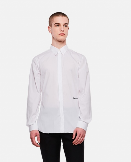 Stretch cotton poplin shirt,