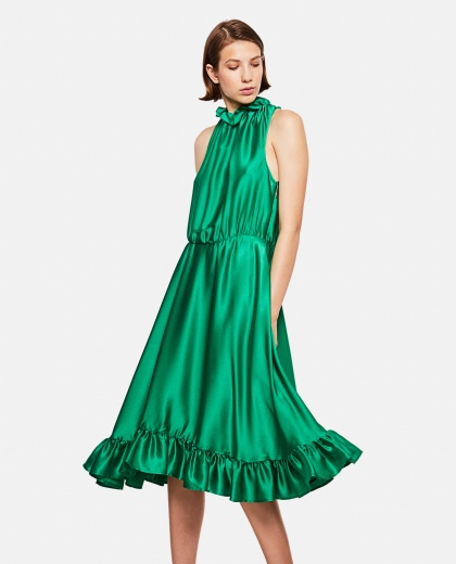 Flared Dress Without Sleeves