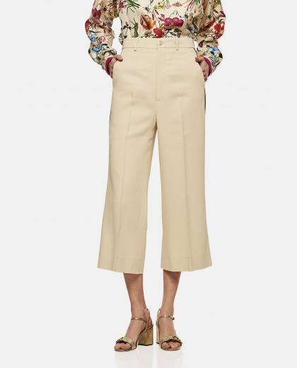 Viscose Culotte Pant With Web