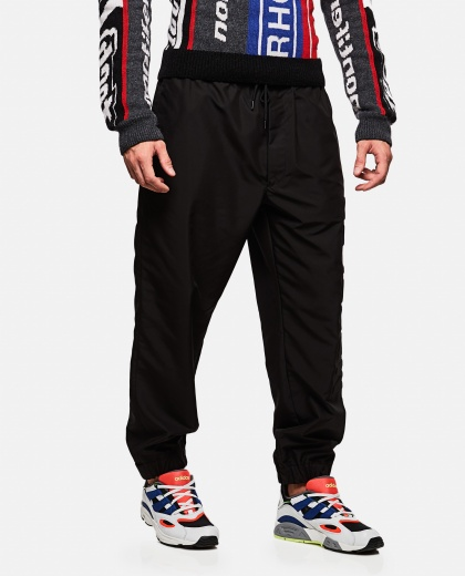 Technical polyester sports trousers