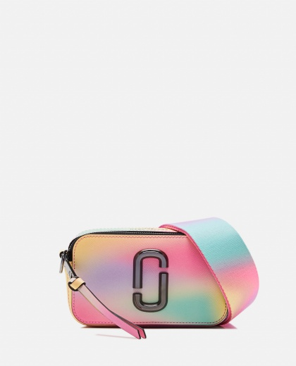 Snapshot Airbrushed Leather Crossbody Bag